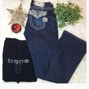 Miss Me Jeans size 26x31 easy boot cut